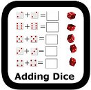 dice addition math worksheets