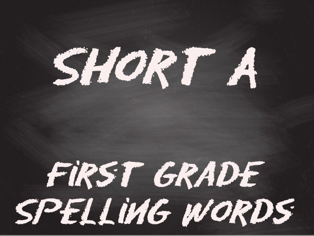 first grade spelling list