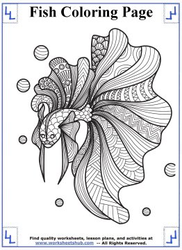 fish coloring pages 10