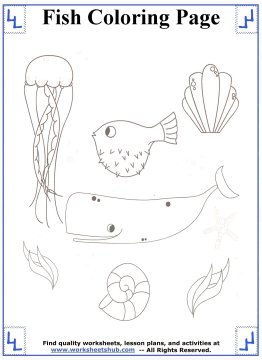 fish coloring pages 13