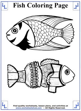 fish coloring pages 2