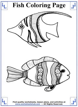 fish coloring pages 3
