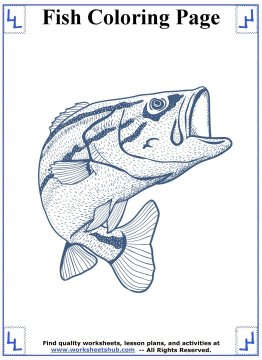 fish coloring pages 4