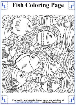 fish coloring pages 7