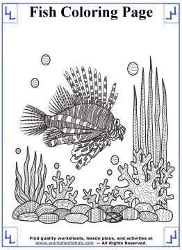 fish coloring pages 8