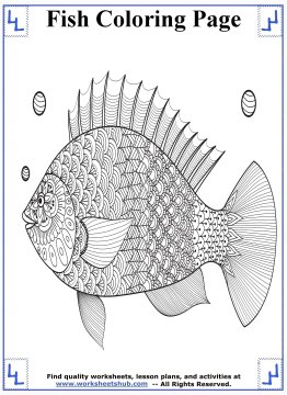 Fish Coloring Pages - Printable Coloring Sheets
