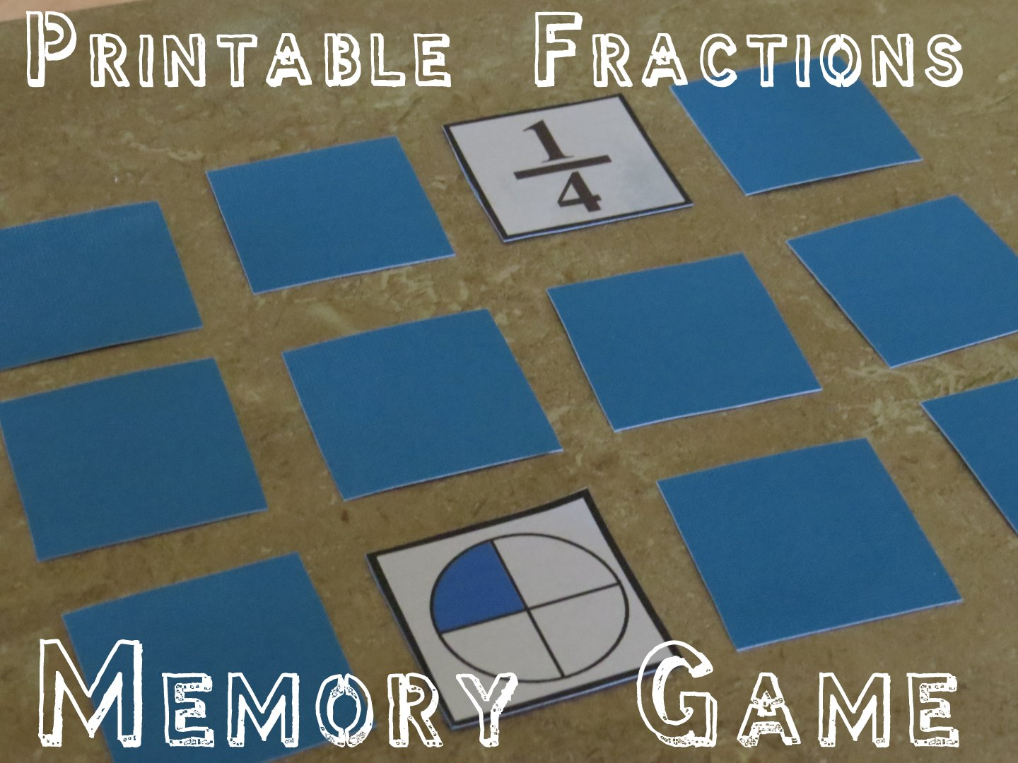 Refreshing image with printable fraction game