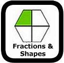 fractions of shapes worksheets