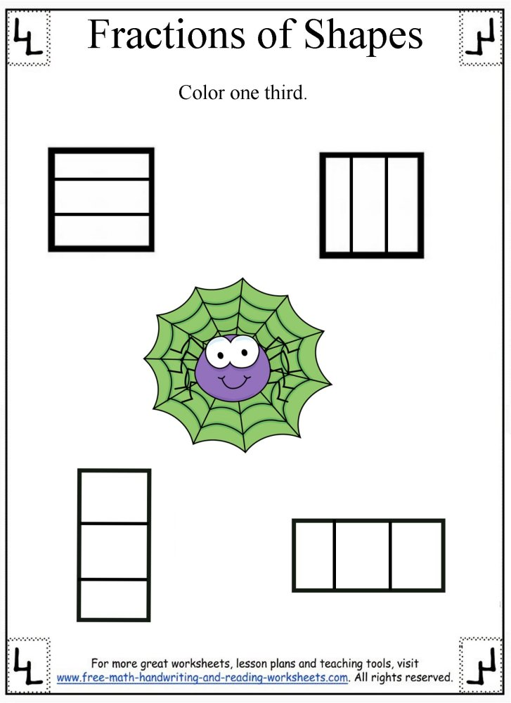fractions worksheet 3