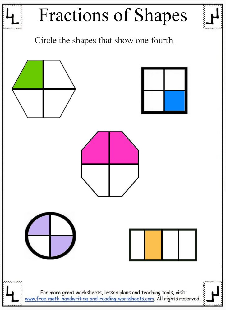 fractions worksheet 6