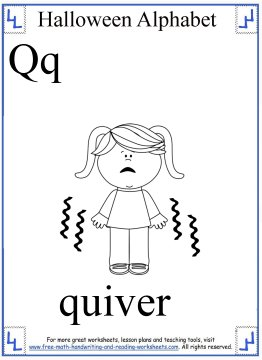 Free Halloween Coloring Pages Halloween Alphabet Q Z