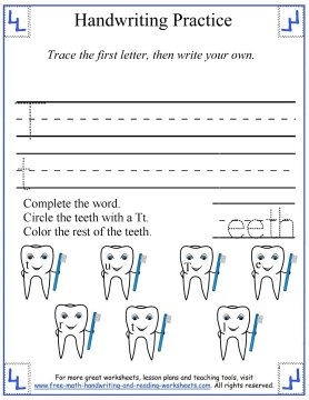 printing the letter t free handwriting worksheets