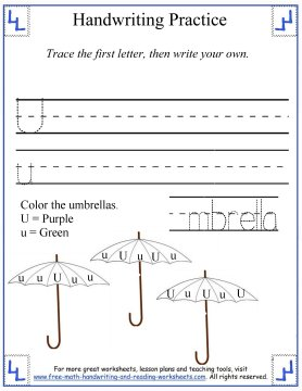 free handwriting worksheets 3