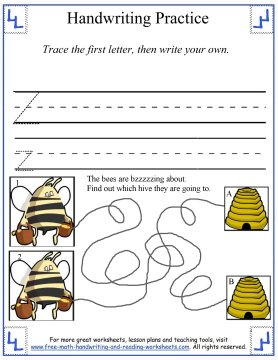 free handwriting worksheets 8