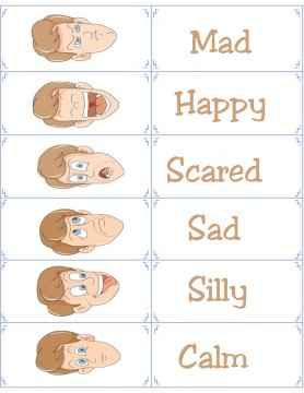 man emotion flashcards