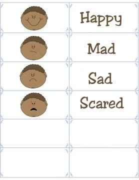 boy emotion flashcards