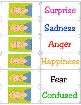 woman emotion flashcards
