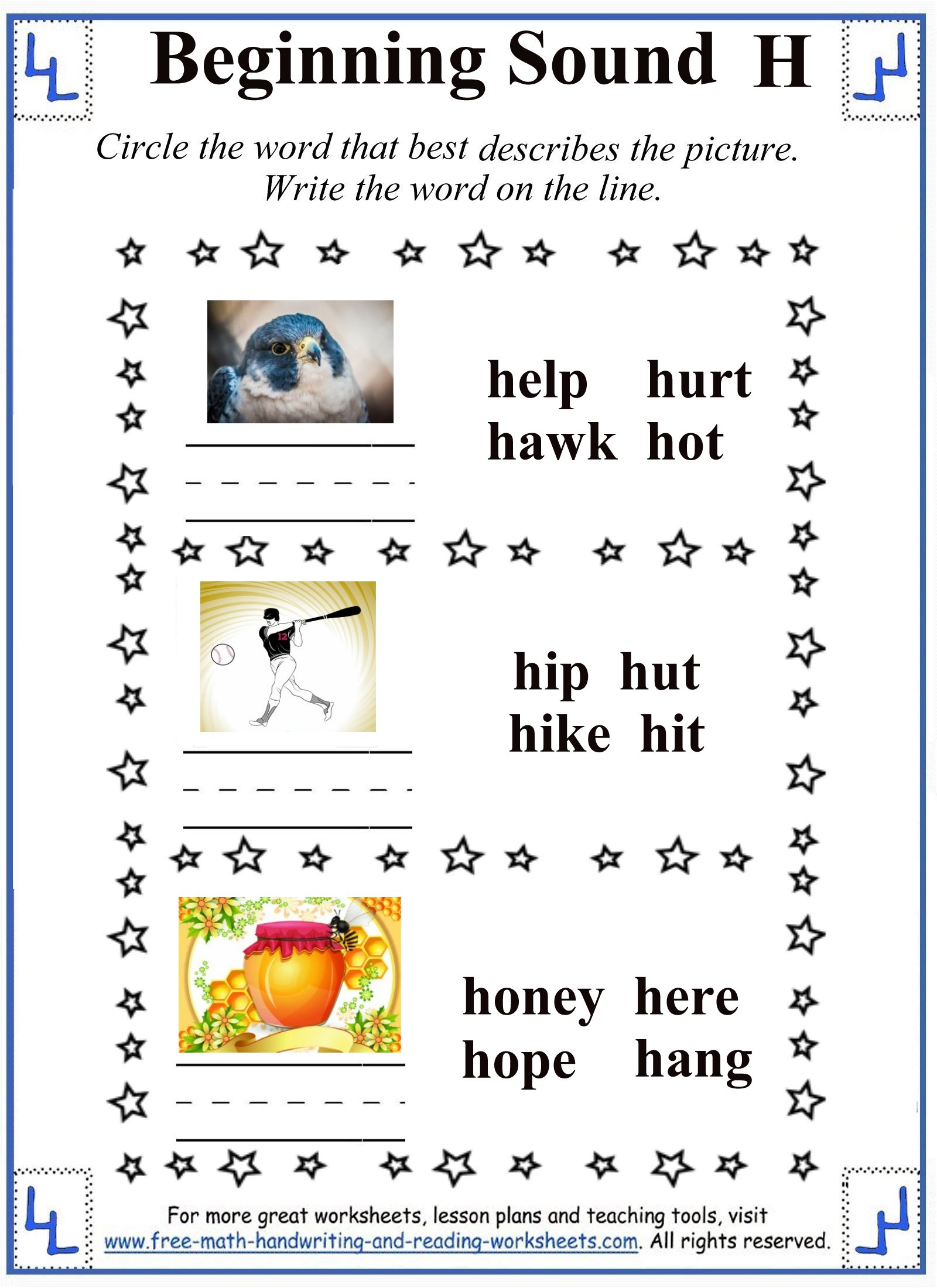 h letter 3