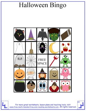 picture about Halloween Bingo Printable titled Halloween Game titles for Youngsters - Printable Halloween Bingo Playing cards
