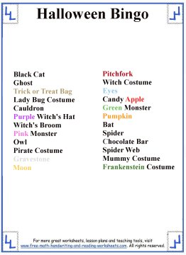 photo about Free Printable Halloween Games identified as Halloween Video games for Young children - Printable Halloween Bingo Playing cards