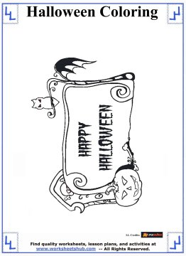 halloween printable coloring pages 1