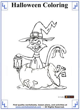 halloween printable coloring pages 12