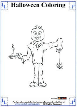 halloween printable coloring pages 8