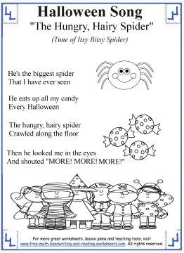 halloween preschool songs our worksheets crafts and activities 310