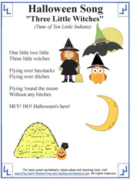 Halloween Songs for Kids Printable