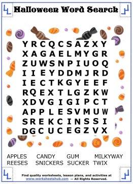 halloween word search 9