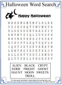 photograph regarding 2nd Grade Word Search Printable identify Halloween Phrase Glance - Printable Actions