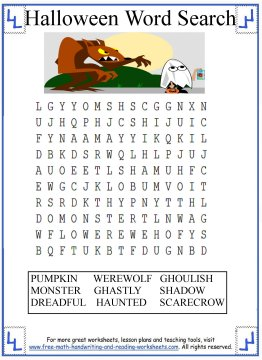 halloween word search 3