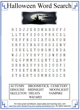 halloween word search 4