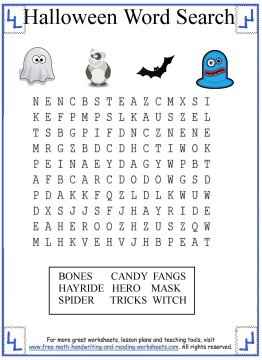 image about Halloween Wordsearch Printable identify Halloween Term Seem - Printable Pursuits