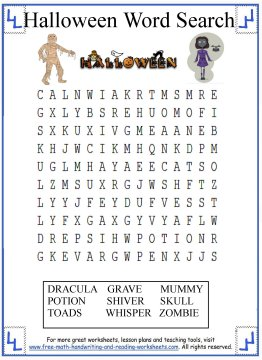 halloween word search 6