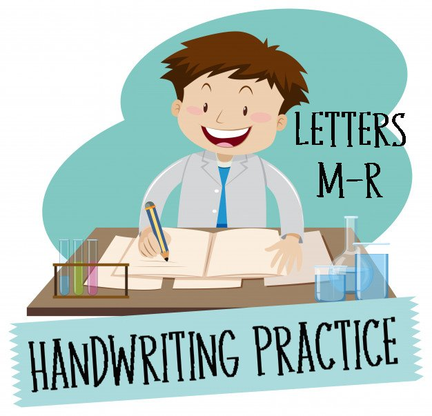 Handwriting Practice Sheets:Printing Letters Mm-Rr