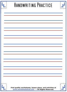 handwriting sheets 3