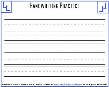 handwriting sheets printable 3 lined paper. Black Bedroom Furniture Sets. Home Design Ideas