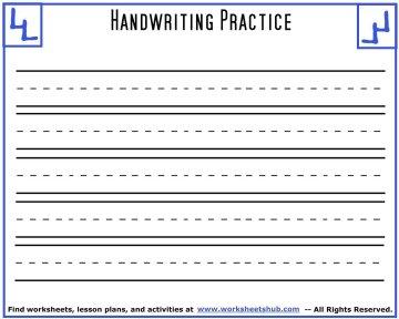 handwriting sheets 4