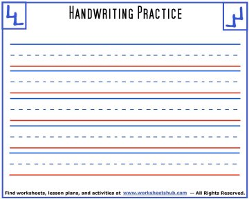 handwriting sheets 5