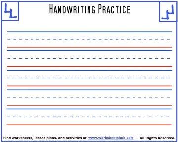 handwriting sheets 5