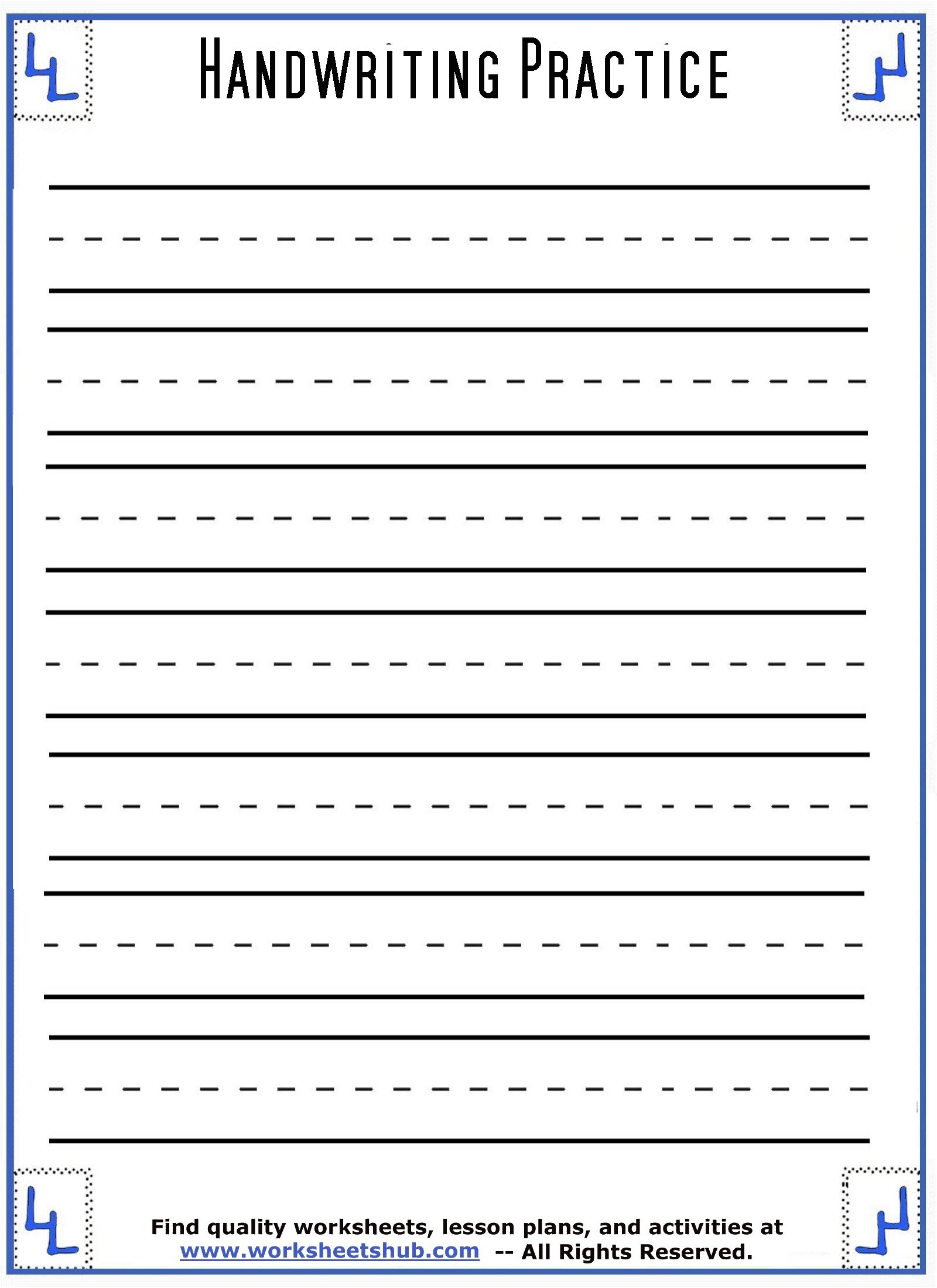 handwriting sheets 1