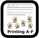 handwriting worksheets A-F