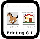 handwriting worksheets G-L