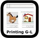 handwriting worksheets G-L