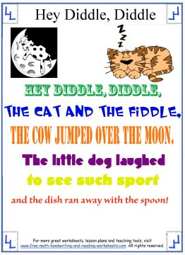 hey diddle diddle nursery rhyme 2