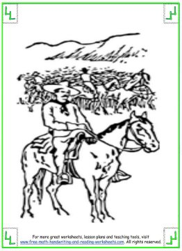 horse coloring pages 7