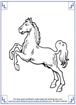 horse coloring pages 11