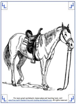 horse coloring pages 12