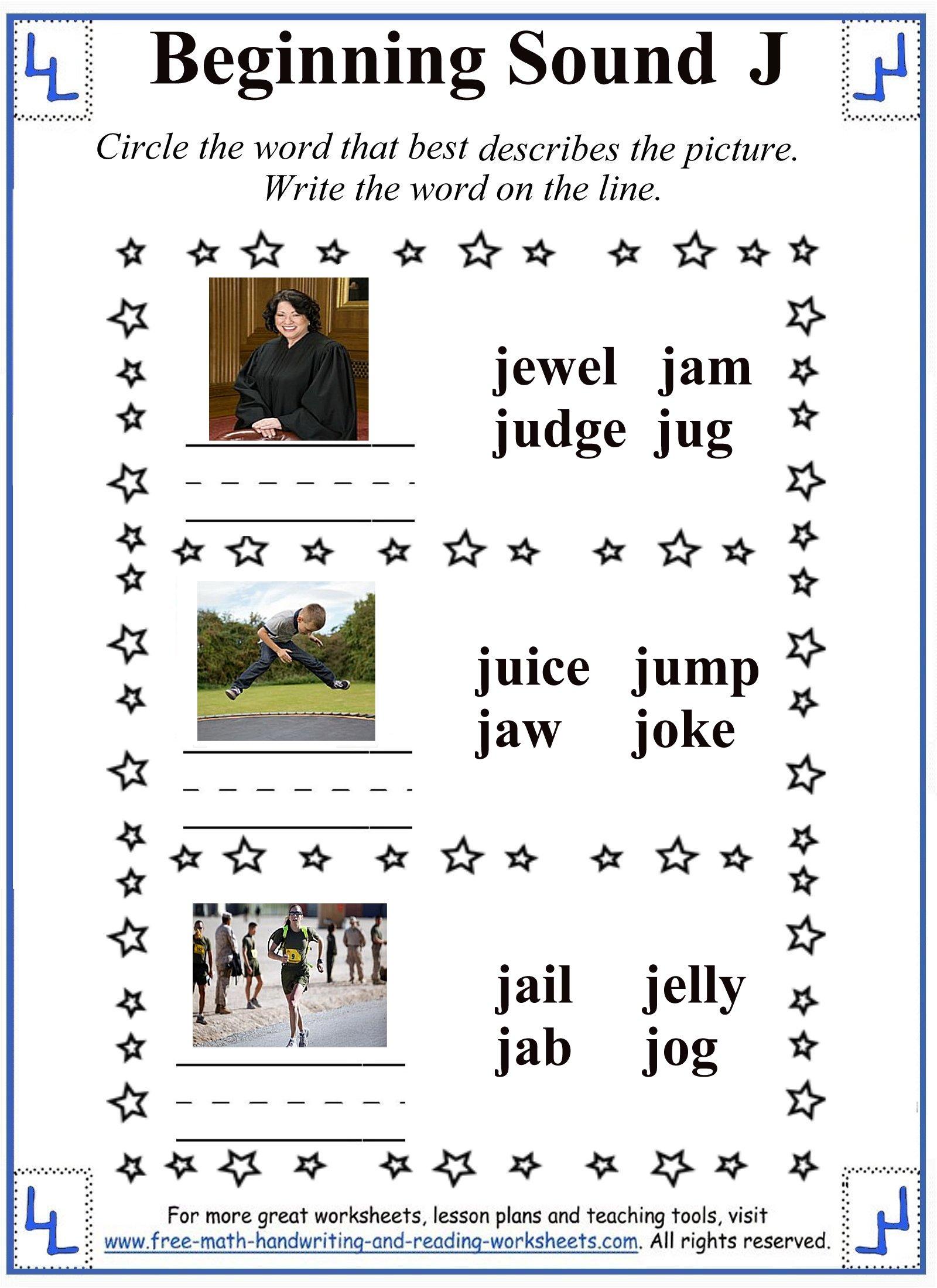 Free Worksheet Letter J Worksheet j letter worksheets